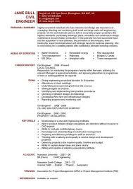 civil engineering cv template sample resume for civil engineer
