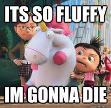 its so fluffy Im gonna die - Despicable - quickmeme via Relatably.com