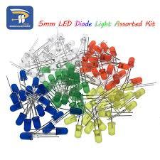 <b>5Colors*20PCS</b>=<b>100PCS</b> 5mm LED Diode Light Assorted Kit Green ...
