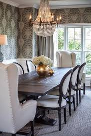transitional dining chair sch: nice black and white french round back dining chairs transitional dining room by http