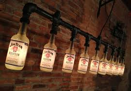 industrial style bottle lamp is ideal for any mancave bottle lighting