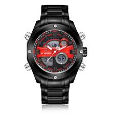 <b>naviforce</b> nf9088 <b>fashion men</b> dual display <b>watch</b> luxury stainless ...