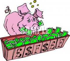 Image result for pig with money