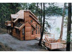 images about Lake House Plans on Pinterest   House plans and    Gorgeous Cabin   Plan   D    houseplansandmore com