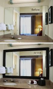 update bathroom mirror: get a hotel inspired look at home the mirrormate mirror frame presses right onto