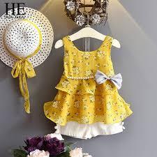 <b>HE Hello Enjoy Toddler</b> Girl Clothing Kids Clothes Chiffon Floral ...
