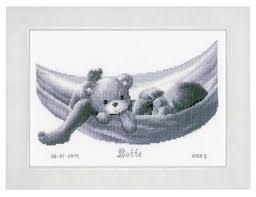 <b>Vervaco Набор для вышивания</b> Малыш в гамаке 27 x 19 см (PN ...