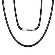 Moneekar Jewels Braided <b>Genuine</b> Leather Cord Necklace with ...