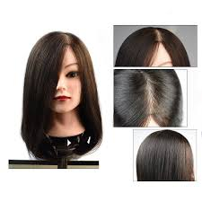 <b>100</b>% Really <b>Human Hair Male</b> Mannequin Head With Beard For ...