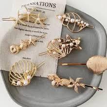 <b>M MISM 1PC</b> Fashion Woman Letter Hair Clip Pin Metal Geometric ...