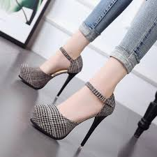 <b>12cm ultra high heel</b> waterproof platform lattice shoes spring and ...
