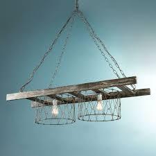 1000 ideas about hanging ladder on pinterest ladders pot racks and vintage ladder chandelier barn board
