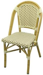 comfortable patio chairs aluminum chair: aluminum bamboo patio chair with brown amp white rattan