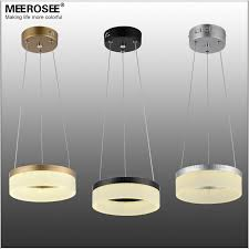 modern 1 ring led pendant light fixture round acrylic lights lamp small colored aisle porch suspension buy lighting fixtures