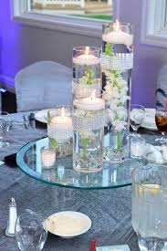 room modern camille glass: dining room modern sand and candle centerpieces design ideas with beautiful clear glass candle centerpieces