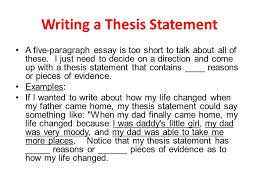 writing a thesis statement writing a thesis statement  a thesis