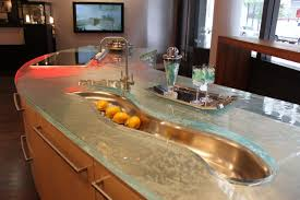 dishy kitchen counter decorating ideas: view in gallery modern countertops unusual material kitchen glass jpg