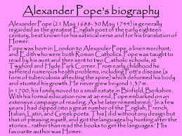 alexander pope an essay on man  contents    alexander pope    s    alexander pope    s biography alexander pope    may    may   is generally