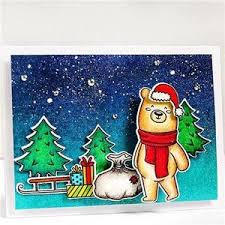 Christmas Bear <b>Stamps</b> and Dies – Inlovearts