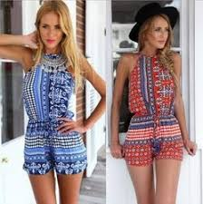 <b>2015 new fashion</b> women's jumpsuits summer Vintage blue red ...