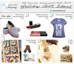 Christmas Gift Ideas: Socially Responsible Christmas Gifts the ...