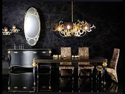 stunning dining room in black with hints of gold black bedroom furniture hint