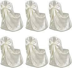 <b>6 pcs Cream Chair</b> Cover for Wedding Banquet: Amazon.co.uk ...
