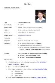 standard cv resume example standard curriculum vitae format large size of resume sample best biodata resume example personal information and experience in