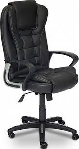 Офисное <b>кресло Tetchair BARON</b> (<b>кож/зам</b>, черный/черный ...
