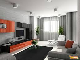 Modern Style Living Room Living Room Interior In Modern Style Showing Furniture Lcd Unit