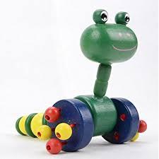 Buy Eonkoo <b>Cute Cartoon</b> Animal Wooden Toy <b>Push Pull</b> for ...