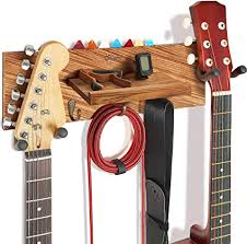 Guitar Holder Wall Mount with Double Rotatable ... - Amazon.com
