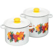 <b>Набор эмалированной посуды Сибирские</b> товары Смородина 20 ...