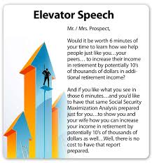 elevator speech examples like success elevator speech examples