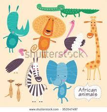 <b>Giraffe</b> illustration, Lion illustration, <b>Crocodile</b> illustration