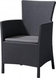 <b>Кресло</b> пластиковое мягкое <b>Keter Iowa</b>, цвет графит, серый ...