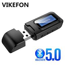 <b>USB Bluetooth</b> 5.0 Transmitter <b>Receiver</b> LCD Display EDR <b>Adapter</b> ...