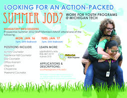 local summer jobs youth programs the commute michigan tech s center for pre college outreach is currently hiring counselors office assistants lifeguards and chaperones for the 2012 summer