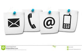 web contact us icons on post it royalty stock images image web contact us icons on post it