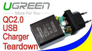 <b>Ugreen USB Charger</b> Quick Charge 2.0 EU Plug test and teardown ...