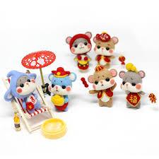 <b>Jiwuo</b> Creative Cute Animal Hamster Toy Doll <b>Wool Felt</b> Poked ...