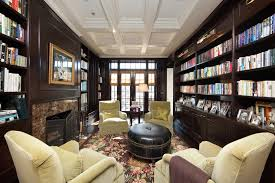 luxury study home office library chicago chicago home office