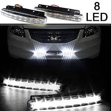 <b>2PCS</b>/Pair 8 LED Daytime Running <b>Lights</b> Super Bright DRL <b>Light</b> ...