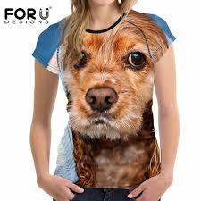 <b>FORUDESIGNS</b> 2018 <b>Fashion Brand</b> Women T Shirt Printing ...