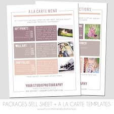senior portraits packages sell sheet a la carte pricing template photography marketing template 8 5 x 11 size newborns seniors families