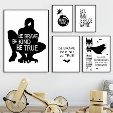 <b>Cartoon Batman Spiderman</b> Canvas Painting Posters And Prints ...