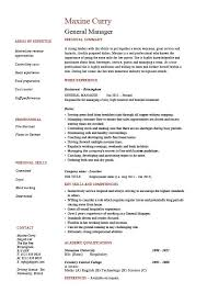 general manager resume  cv  example  job description  sample    general manager resume