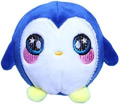 ZJL220 <b>Plush</b> Cartoon Penguin Ball Decompression <b>Squeeze Toy</b> ...