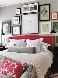 bunny turners bedroom red headboard red patterned pillows and embroidered pillows against gray bedroomendearing living grey room ideas rust