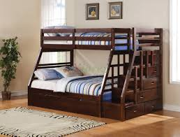 taurus twinfull bunk bed with stairs and trundle in espresso xiorex kids beds toronto calgary vancouver bunk beds kids dresser